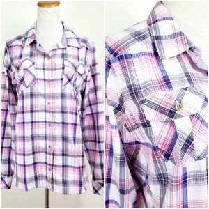 Marmot L Shirt Button Down Breathable Plaid Hiking